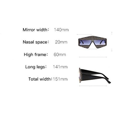 print Femmes UV Lunettes Diamond Soleil Sunglasses Fashion Irrégulières ZYXCC pour YANJING de Protection Leopard Lunettes de PIqZff