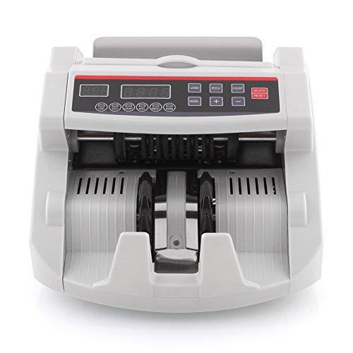 amzdeal® Geldzählmaschine Geldzähler Geldscheinzähler Multiwährung