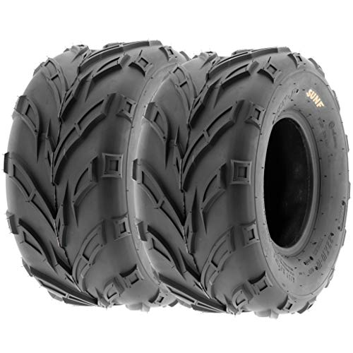 Pair of 2 SunF A004 ATV UTV 18x9.5-8 AT off-road Tires, Trail & Track, 6 PR, Tubeless (Go Kart Dirt Tires)