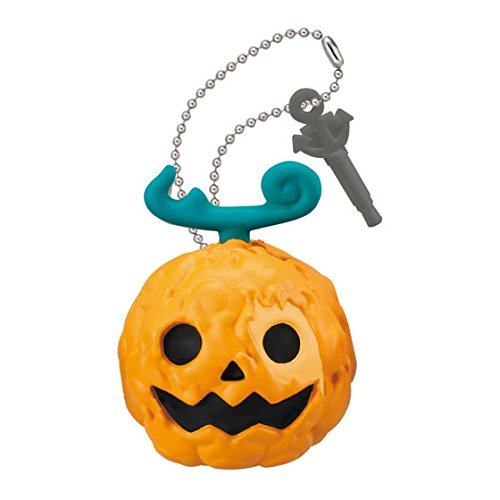 Bandai One Piece Double Earphone Plug Jack Mascot Figure Swing Keychain~Halloween~Mera Mera No Mi Flare Frame Fruit ()