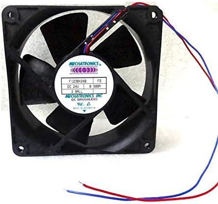Cooler Fan for Mechatronics 120mm x 38mm Fan 24V DC 130 CFM Bare Leads 119mm F1238X24B-FS