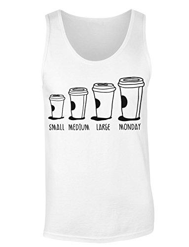 Coffee To Go Sizes Small Medium Large Monday T-shirt senza maniche per Donne Shirt