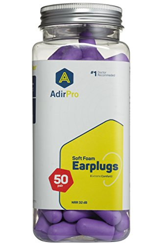 Super Leight Plug (AdirPro Doctor Recommended, Comfortable Fit, Premium Ultra Soft Foam Ear Plugs For Hearing Protection, Construction Sites, Hunting, Shooting, Concerts, Sleeping, and Snoring -50 Pairs)