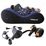 COSWE Inflatable Lounger Sofa Relax Chair Sex Lounge for Couples with Free Electric Air Pump (Black)