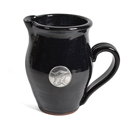 Faceplates Blackberry - Oregon Stoneware Studio Creamer with Pewter Cow Faceplate, Blackberry