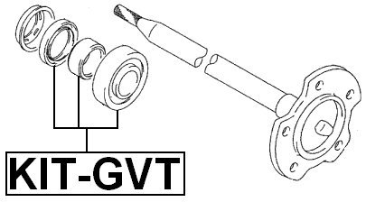 - Oem: 434... 40X80X23 Febest Suzuki Ball Bearing Kit Rear Axle Shaft // Axle