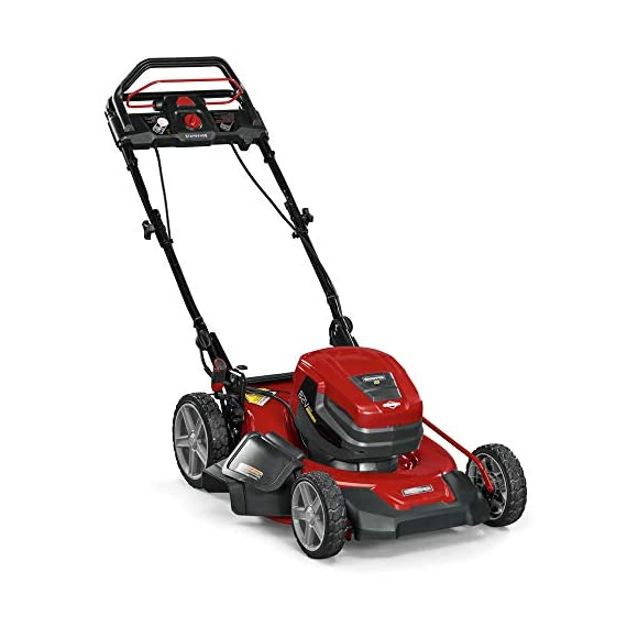 Snapper XD 82V MAX Step Sense Cordless Electric 19-Inch Lawn Mower Kit with (2) 2.0 Batteries and (1) Rapid Charger 4 StepSense Automatic Drive System : Intelligently adjusts to your mowing speed for easy operating pace Dual battery power head : houses two batteries to provide additional run time of up to 60 minutes** Intelligent load sensing technology : allows for optimum power levels while you mow for maximum efficiency