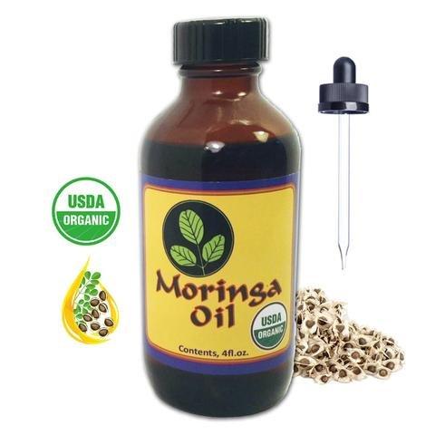 Moringa Energy Oil - USDA Organic, 100% Pure Moringa Seed Oil with Cold...