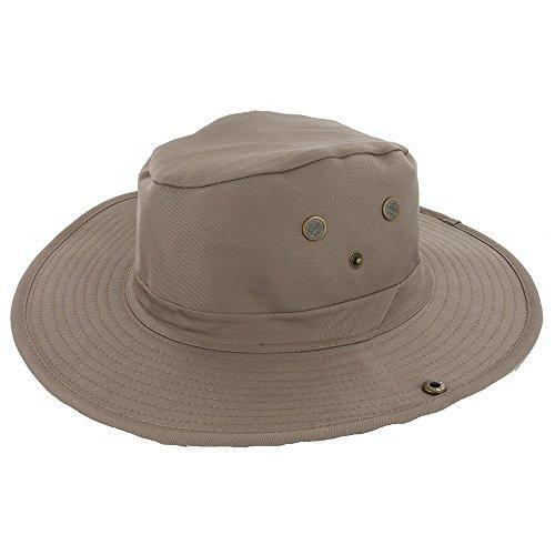 DealStock Adjustable Zip Tie Men Women Wide Brim Summer Outdoor Hat Cap for Hunting Fishing Camping Hiking Khaki M