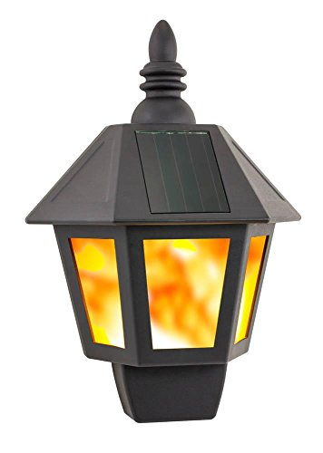SOLAR FIRE WALL LANTERN by Smart Living