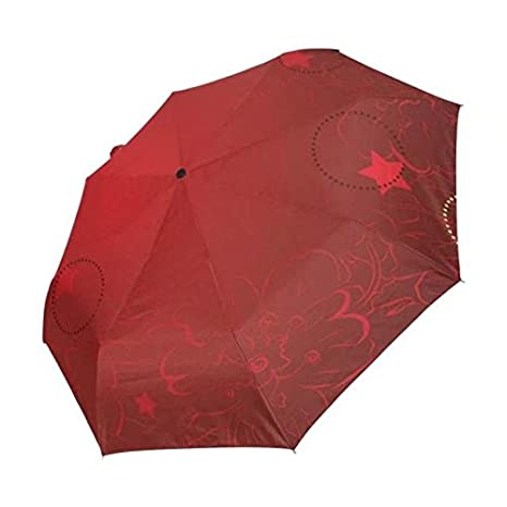 2017 Fully Red Flower Pattern Umbrella Rain Women Plegable Paraguas guarda-chuva invertido Chinese Umbrella