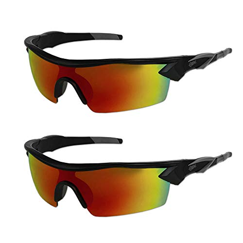 Battle Vision HD Polarized Sunglasses by Atomic Beam, UV Block Sunglasses Protect Eyes & Gives Your Vision Clarity (2 Pairs) (Try On Glasses)