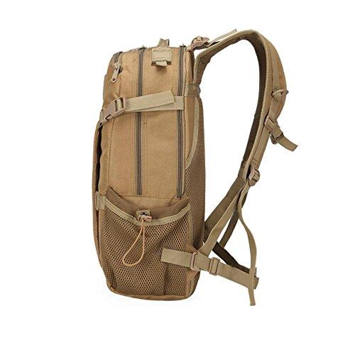 ZX&Q Impermeable Oxford tela deportes tácticos al aire libre camuflaje escalada mochila transpirable luz cómoda llevando una mochila al aire libre súper resistente al desgaste ligero,C,30L A
