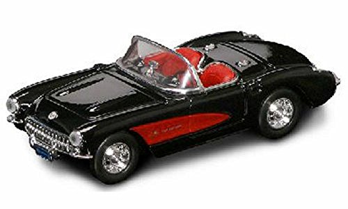 1957 CHEVROLET CORVETTE BLACK 1/43 DIECAST CAR MODEL BY ROAD SIGNATURE 94209 ()