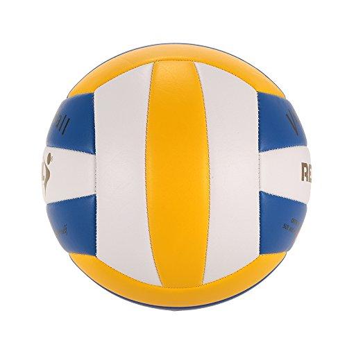 Lixada Tamaño 5 Oficial de la PU del Voleibol del Tacto Suave de Volley Ball Cubierta Outdoor Training balón azul