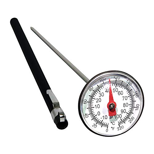 Gayrrnel Stainless Steel Soil Thermometer, 127mm Stem, Easy-to-Read 1.5