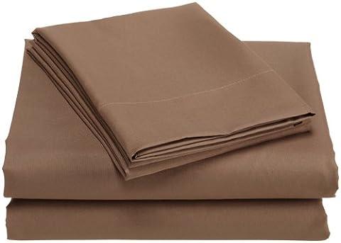 Divatex Home Fashions Microfiber California King Sheet Set, Bronze