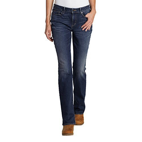 Eddie Bauer Womens Short (Eddie Bauer Women's StayShape Straight Leg Jeans - Slightly Curvy, Archive Wash)