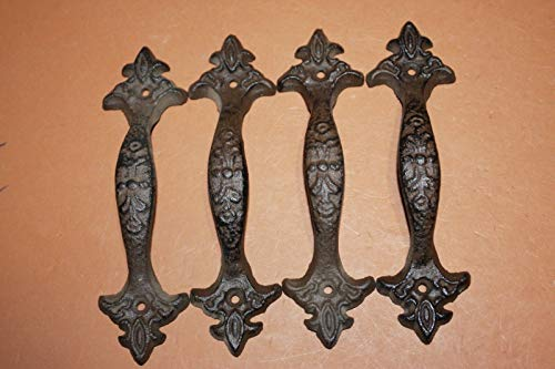 Vintage Look Victorian Kitchen Cabinet Pulls, 6 3/8 inch Length, Cat Iron, Bulk Set of 16 HW-18 by Southern Metal (Image #5)