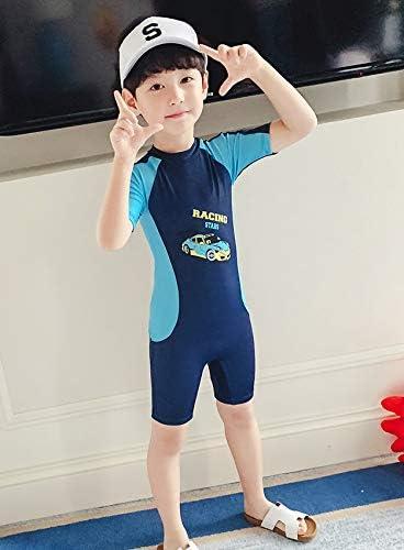 【姫洋服】 子供 男の子 キッズ 水着 スイムウエア 半袖 通気性 高品质 ソフト 柔らかい 紺 100-110cm