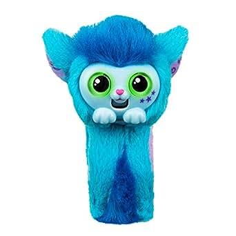 Pequeño juguete para mascotas vivas, muñeca, mono, interactivo, amigos, conversación, rosa princeza, banda de esquí, lindo juguete, correa de muñeca, regalo de Navidad Azul azul SKYO