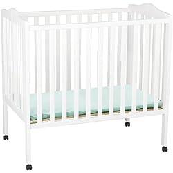 Delta Children Portable Mini Crib, White