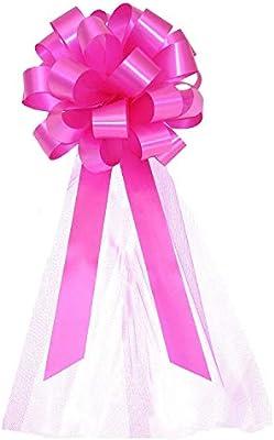 """Mini ribbon bows Hot Pink Fuchsia  24pcs 1/"""""""