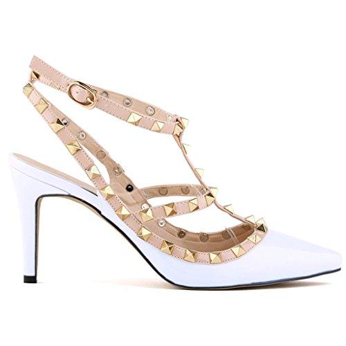 modello alto Sandalo dal pelle tacco Salt White Pepper Strappy Kunsto x8aWIq7