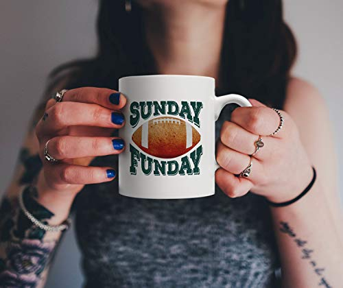 Sunday Funday Football Mug Get Your Helmet Gloves and Cleats and Spend the day Watching the Championship Tournament Team Players Gift