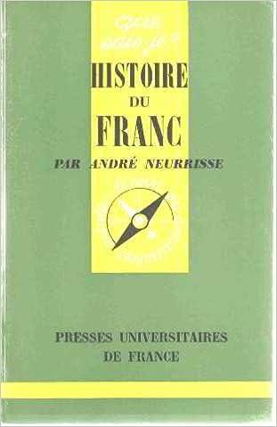 Livres gratuits en ligne Histoire du franc pdf