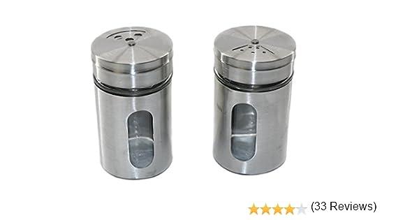 de Cristal y Acero Inoxidable RMB/® 2/Unidades de Especias Salero XL/ /Salero y pimentero
