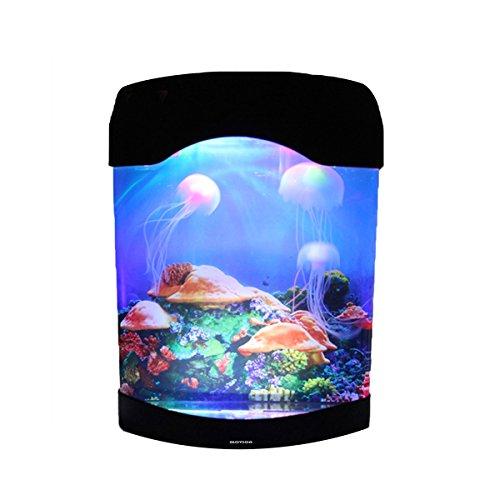 Glovion Silicone Jellyfish Aquarium LED Colorful Night Light Emitting Electronic Light up Tank Simulation of Deep Sea Jellyfish Flowing Moves by Glovion