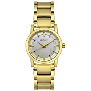 DKNY Women's NY4520 Crystal Accented Gold-Tone Stainless Steel Watch from DKNY