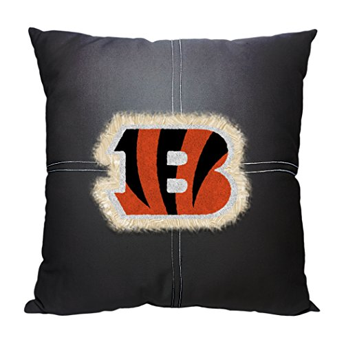 Bengals OFFICIAL National Football League, 18 x 18 Letterman Pillow by Northwest Official