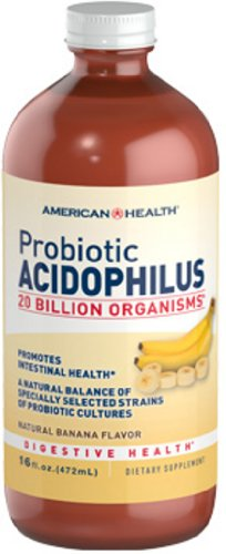 American Health, Acidophilus Liquid, Banana, 16 oz -