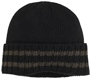 Chaos Men's Time Ragg Wool Cuffed Stripe Beanie (Heather Black, One Size)
