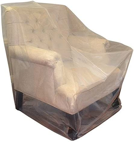 Loveseat 2 Packs CRESNEL Furniture Cover Plastic Bag for Moving Protection and Long Term Storage