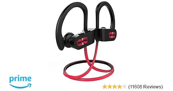 Amazon.com: Mpow Flame Bluetooth Headphones Waterproof IPX7, Wireless Earbuds Sport, Richer Bass HiFi Stereo in-Ear Earphones w/Mic, Case, 7-9 Hrs Playback ...