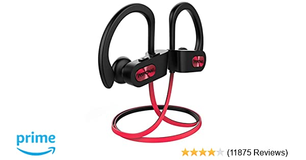Amazon.com: Mpow Flame Bluetooth Headphones Waterproof IPX7, Wireless Earbuds Sport, Richer Bass HiFi Stereo in-Ear Earphones w/Mic, Case, 7-9 Hrs Playback ...