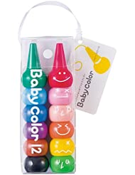 日亚:日本亚马逊凑单!BABY COLOR文鸟幼儿专用牌塔式蜡笔12色装