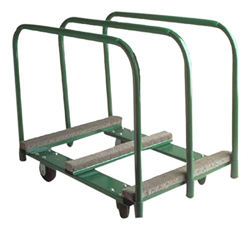 The Fairbanks Company PM-2838-6PO - Panel Mover, 9-3/4'' Deck Size, 36.25'' High, Polyurethane/Cast Iron Wheels, 2000 lb. Load Capacity, 38'' Length, 36.25'' Height, 28'' Width