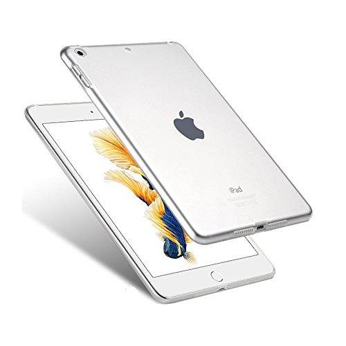 iPad 9.7 Clear TPU Bumper Case, iZi Way Ultra-Thin Flexible Silicone Gel Anti-Slip Scratch Resistant Soft Back Case Cover - Crystal Clear