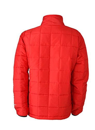 James & Nicholson Ladies' Padded Light Weight Jacket S,Red/Black