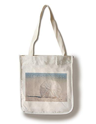 Biloxi, Mississippi - Sand Dollar on Beach (100% Cotton Tote Bag - - Biloxi Mississippi Shopping