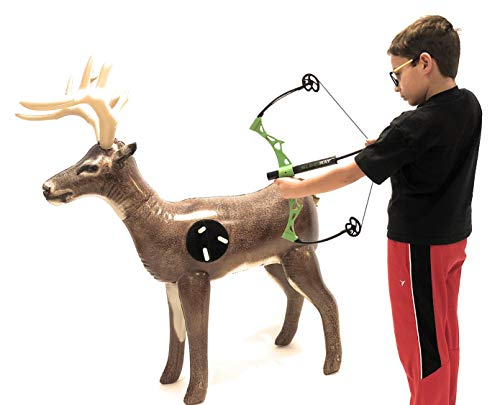 "(Nxt Generation Jumbo Deluxe 58"" Life Sized Painted 3D Inflatable Deer Target - Archery Target Practice - Inflatable Buck -Suitable for Indoor and Outdoor Play- for Hook and Loop Tipped Foam Darts)"