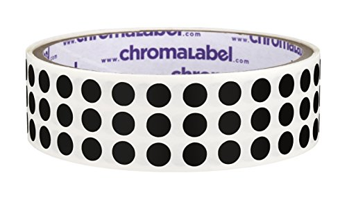 (ChromaLabel 1/4 inch Color-Code Dot Labels | 1,000/Roll (Black))