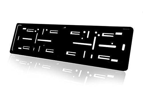 Bracket European Plate (Standard Black Euro License Plate Holder Mounting Frame/Bracket)