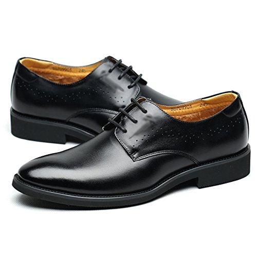 Oxford Black In Pelle Suola Pelle Con Uomo Moda La Punta Alla Da Mano Stringate In Scarpe Fatte Scarpe A Classiche A Classiche Commercio qOBFAF