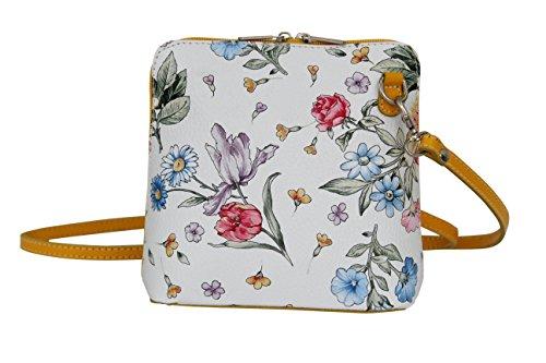 Petit cuir City Moda VL508 Bag Gelb AMBRA Sac Blumen en bandoulière ATXZxw