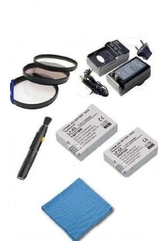 Canon EOS Rebel T2i 18 MP APS-C Digital SLR Camera PRO ACCESSORY KIT, Includes: 2 LP-E8 Batteries (HIGH CAPACITY/EXTRA LONG LIFE), AC/DC RAPID travel charger, 3 piece HIGH QUALITY filter kit (52mm) + DIGI Microfiber Cleaning Cloth + Pro Lens Cleaning Pen. by Digi (Image #5)